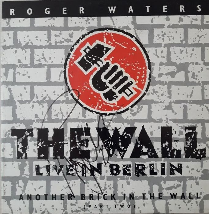 """Roger Waters - Another brick in the wall signed 12"""" with COA - Maxi Single 12""""inch - 1990/1990"""