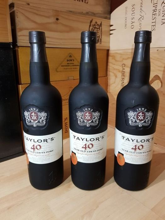 Taylor's 40 years old Tawny - 3 Flessen (0.75 liter)