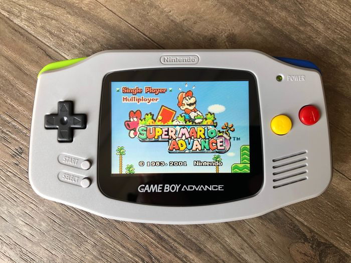 1 Nintendo Game Boy Advance - Refurbished & IPS V2 LCD - Handheld (0) - With carrying case