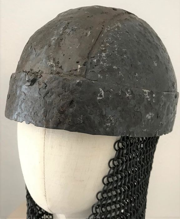 Early medieval Iron Bandhelm - Migration of Nations - 13×18.5×23.5 cm - (1)