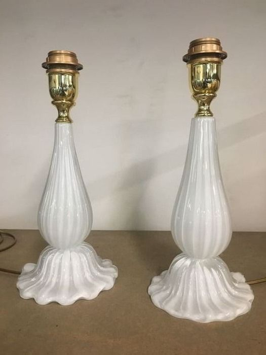 Lotto lampade glass table lamps - Par de lámparas de mesa de cristal