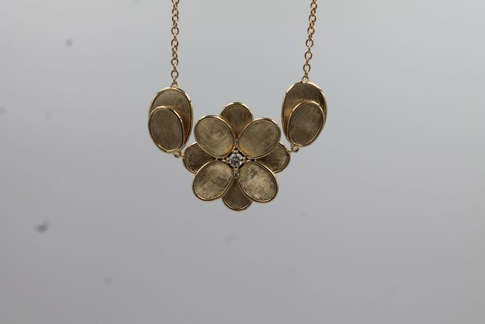 Marco Bicego - 18 kt. Yellow gold - Necklace - 0.08 ct Diamond