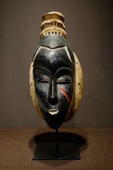 Mask - Wood - Kpwan Goli - PROVENANCE Jan Kusters - Baule - West Africa
