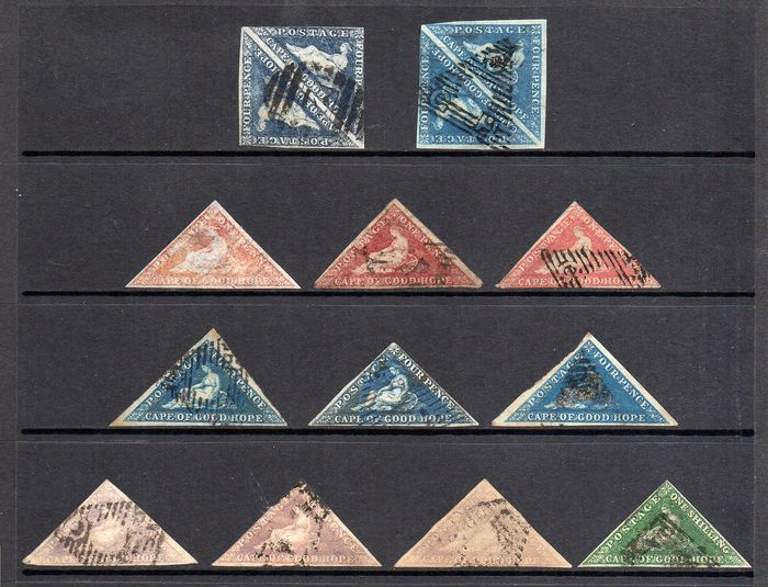 British Commonwealth - Collection of Cape Of Good Hope Triangles