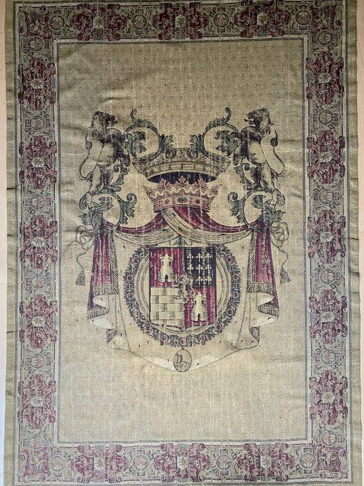 Arazzo, Stampa, with Coat of Arms  200 cm - 140 cm