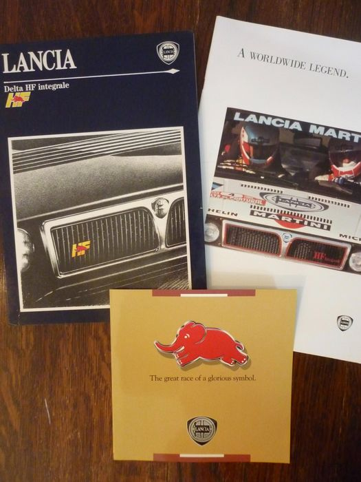 Brochures / catalogues - Lancia Delta HF integrale - 3 original brochures - Lancia
