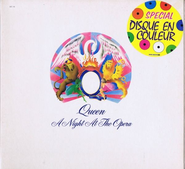 Queen - A Night At The Opera (White coloured vinyl) - Limited edition, LP Album - 1978/1978