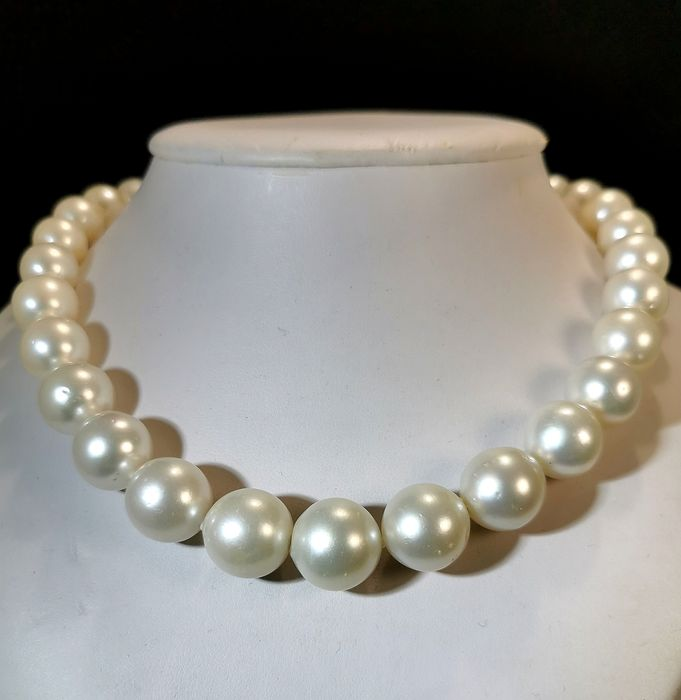 18 kt. Pink gold, South sea pearls, #LOW RESERVE PRICE# Size 11,2x16MM - Necklace