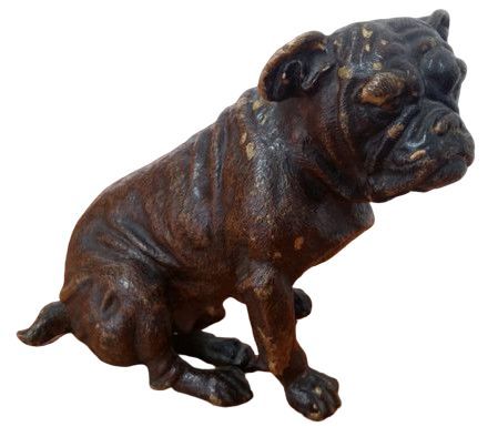 Vienna Foundry - Sculpture, Bronze Bulldog - Bronze (cold painted) - Early 20th century