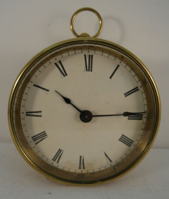Travel clock - Brass - Late 19th century