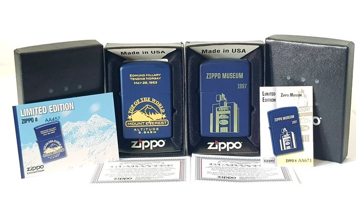 Zippo - Mount Everest Edmund Hillary 29 May 1953 + CGB Bradford Factory Museum 1997  Limited Edition Factory - 2