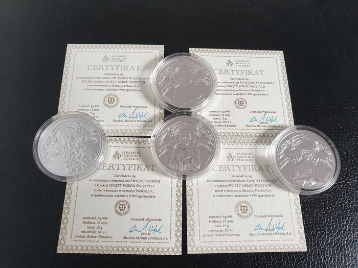 Poland - Lot various medals 2014 (4 different)  - Silver