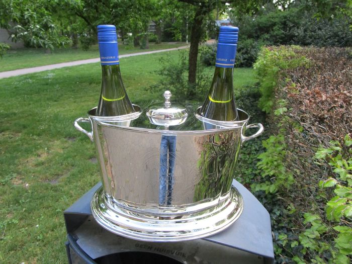 Diga colmore - Wine cooler for two bottles. (1) - Silver plated