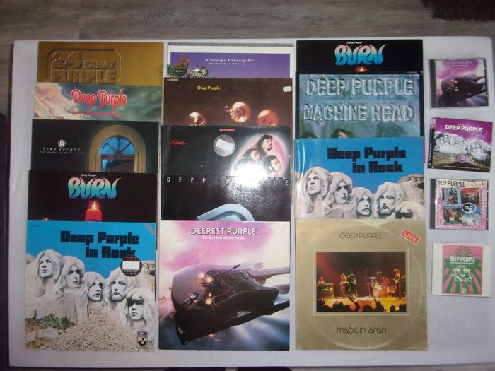 Deep Purple - Multiple titles - CD Box set, CD's, LP's - 1970/1988