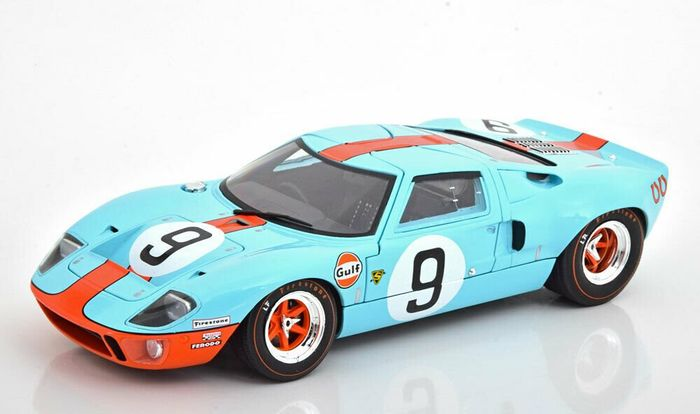 Solido - 1:18 - Ford GT40 MK1 Widebody - 1968 - Team GULF #9 - 24H LeMans