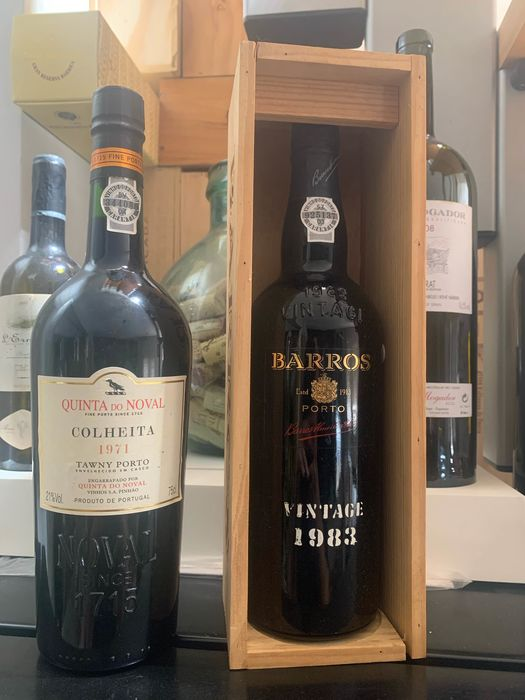 1971 Quinta do Noval Colheita Port & 1983 Barros Vintage Port - 2 Flessen (0.75 liter)
