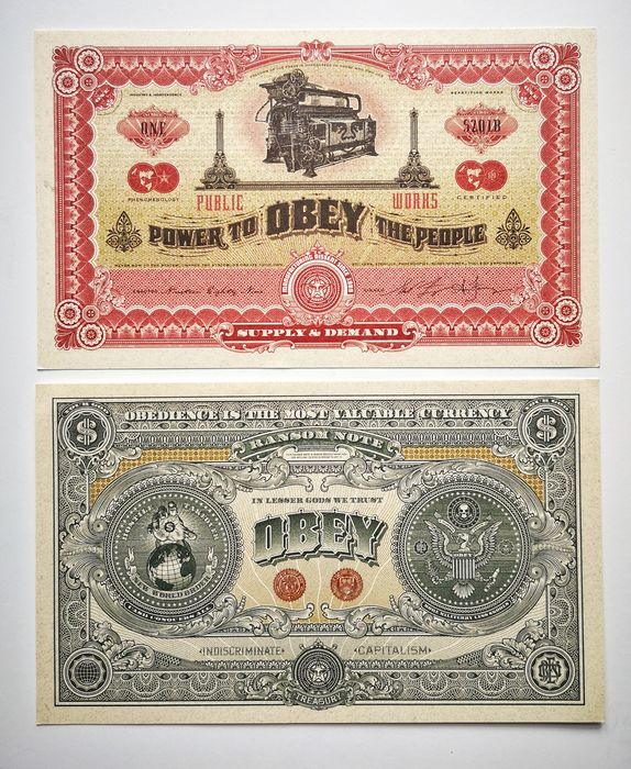 Shepard Fairey (OBEY) - Two sides of capitalism
