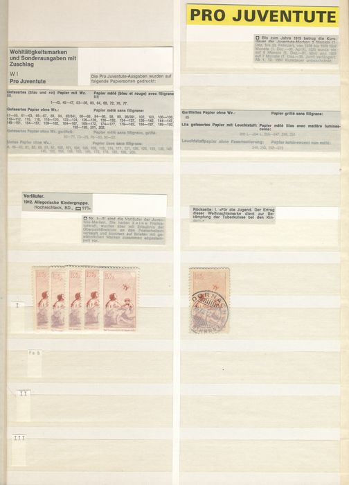 Switzerland 1912/1963 - Stock book Pro Juventute 'Swiss style'