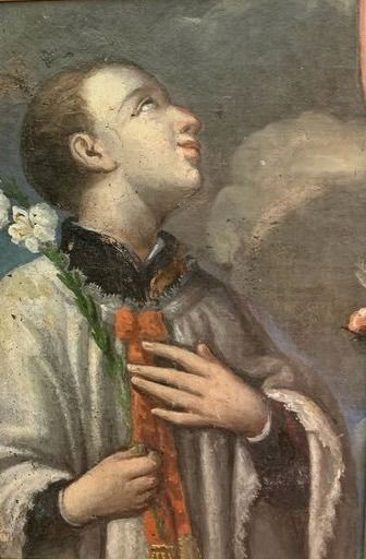 "Painting, ""San Luigi Gonzaga"" (1) - Oil painting on canvas - 18th century"