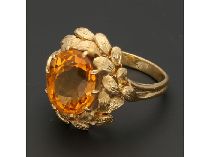 18 kt. Gold - Ring Citrine
