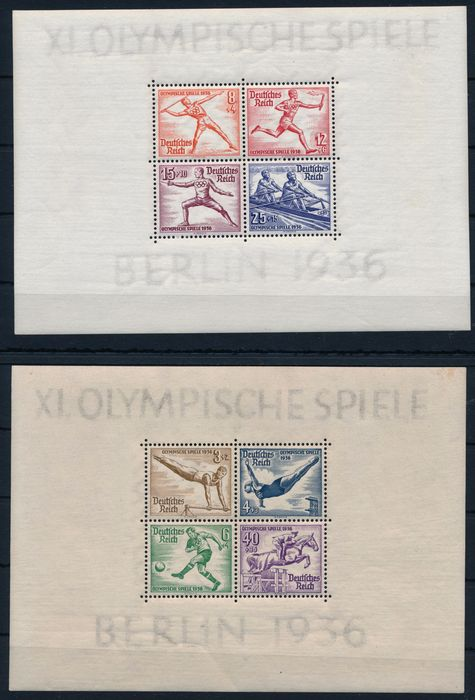 German Empire 1935/1936 - Vintage 1936 completely MNH plus Winter Olympics 1935 with all blocks - Michel Nr. 600 - 631 & Blocks 4 - 6