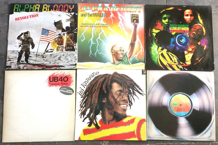 "Various Artists/Bands in Ska & Reggae, Alpha Blondy - Ziggy Marley - Ini Kamoze - Multiple artists - Multiple titles - LP's, Maxi single 12""inch - 1981/1991"