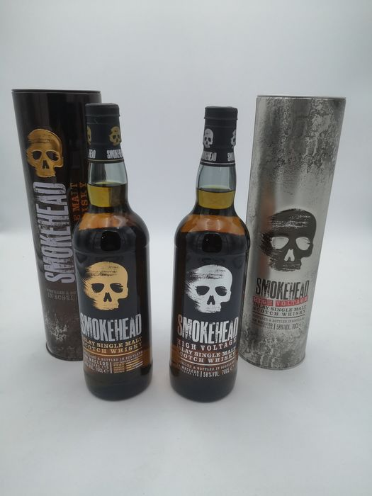 Smokehead Classic & High Voltage - Official bottling - 70cl - 2 bottles