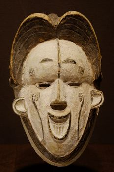 Mask - Wood - Okoroshi Oma- Provenance Karel Gomes - Ibo - Ivory Coast