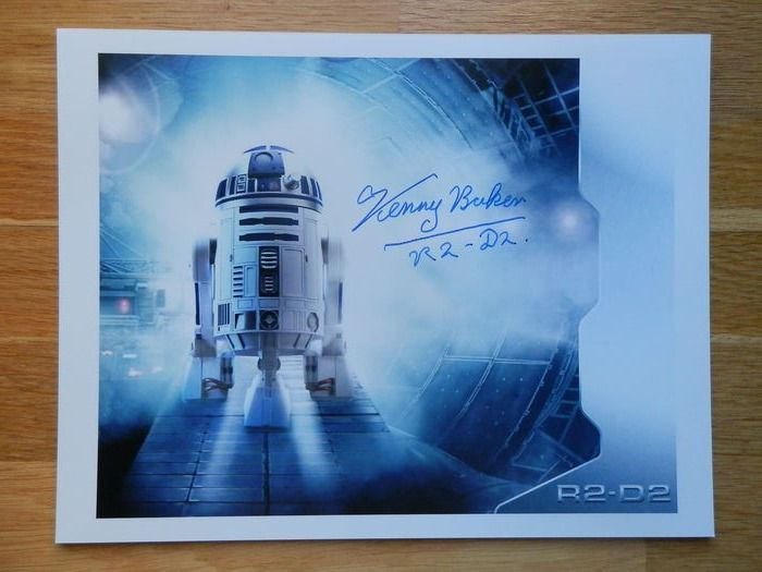 Star Wars - Kenny Baker - Autograph, Photogrph, R2-D2 - Signed in person, LFCC 2014
