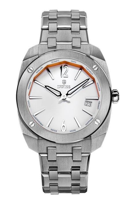 """DWISS - Limited Edition White with Steel Bracelet Swiss Made - RS1-SW """"NO RESERVE PRICE"""" - Unisex - Brand New"""
