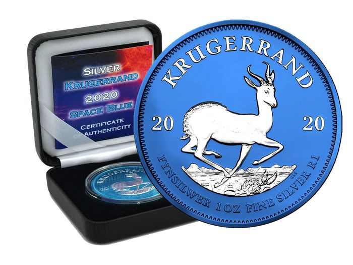 Afrique du Sud. 1 Rand 2020 Space Blue Edition in Box - 1 Oz