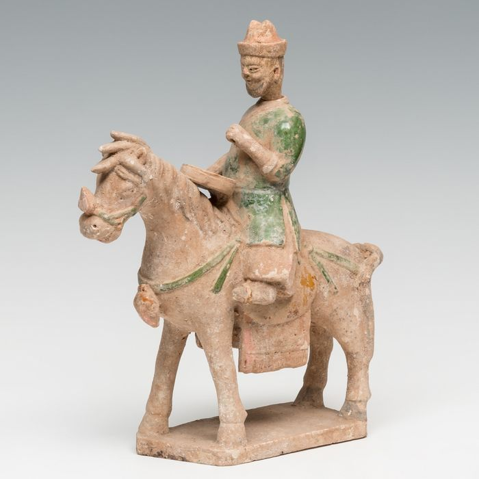 Ancient Chinese Terracotta Horse with rider