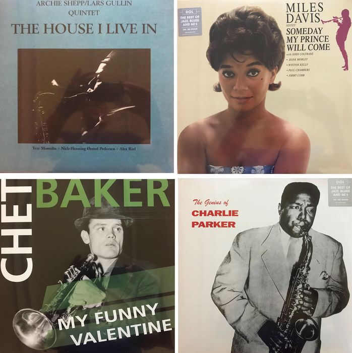 Lot Of 4 LP's By Some Greats Of Jazz - Multiple artists - Chet Baker  /  Charlie Parker  /  Archie Shepp  /  Miles Davis - Multiple titles - LP's - 2011/2017