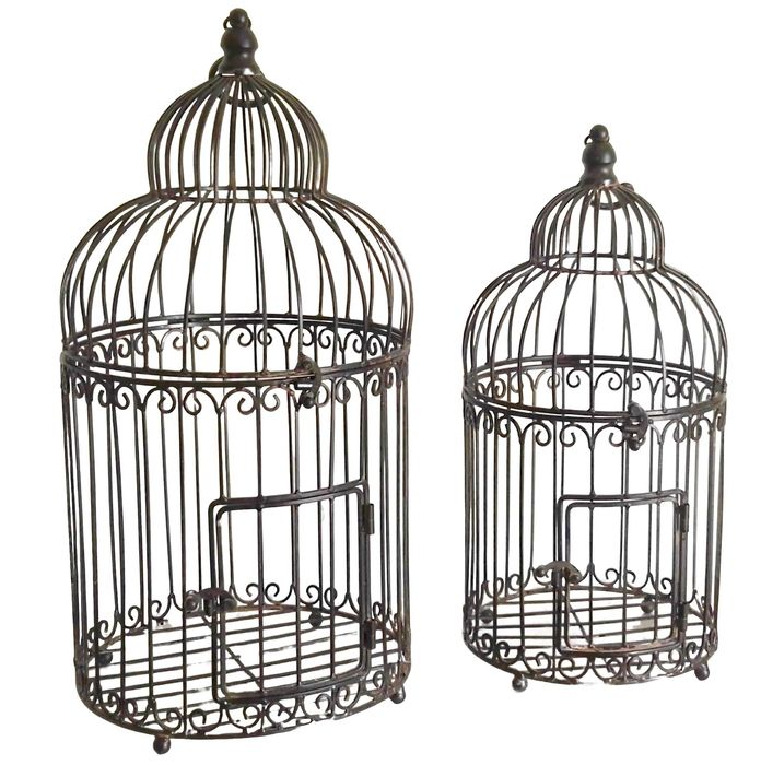 Birdcage (2) - Iron (cast/wrought)