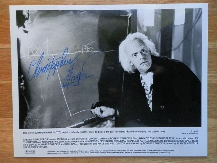 "Ritorno al futuro - Christopher Lloyd (Dr. Emmett ""Doc"" Brown) - Autografo, Fotografia Signed in person, London Film & Comic Con 2011"