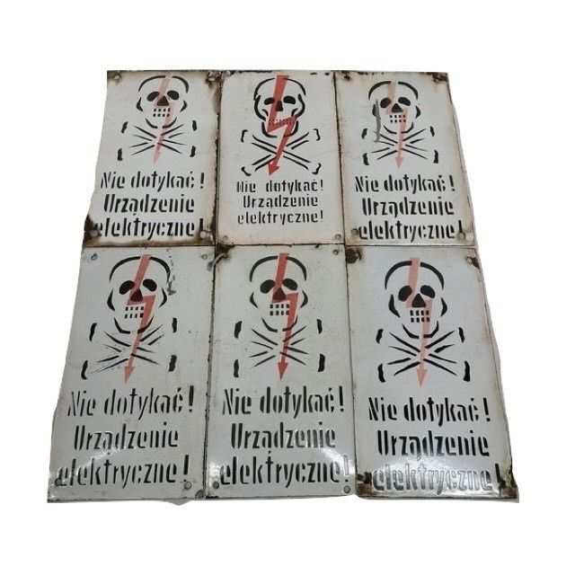 Industrial Enamelled Warning Boards (6)