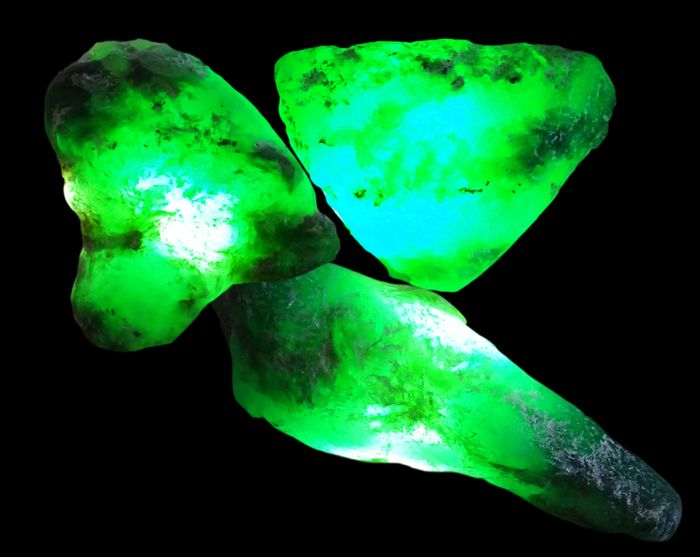 Colombian Muzo Emeralds (Beryl variety) Rough Translucent Gemstones - 118ct - 24 g - (3)