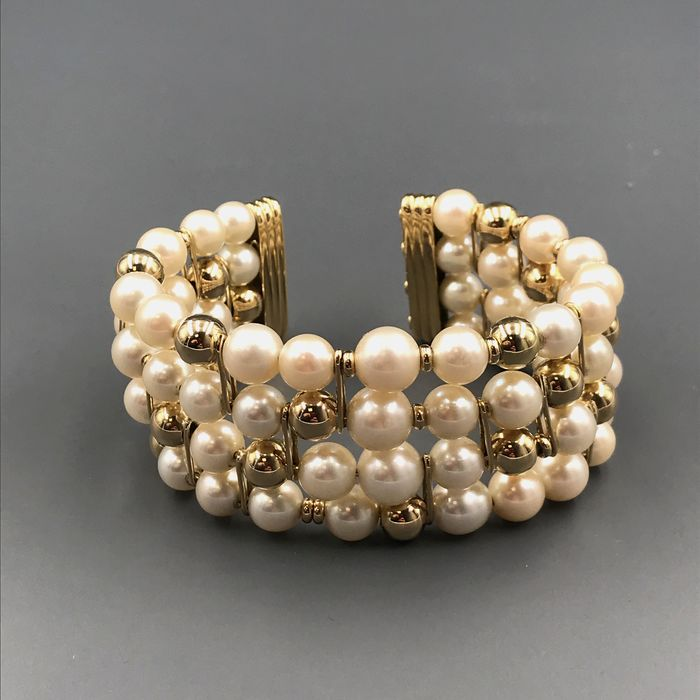 18 kt. South sea pearls, Yellow gold, 7 -8.26 mm - Bracelet