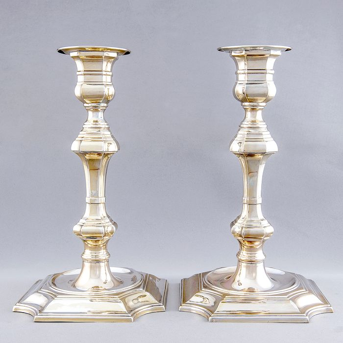 Candlestick (2) - Law 916 - 1.300 gr. de Plata - Spain - First half 20th century