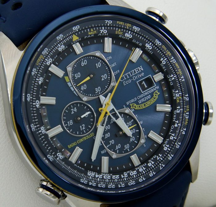 "Citizen - - ""NO RESERVE PRICE"" - Eco Drive ""Blue Angels"" Radio Controlled Atomic Watch - Mænd - 2011-nu"