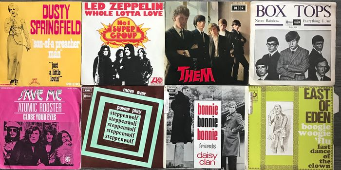 Led Zeppelin, Them, Dusty Springfield - Steppenwolf - Multiple artists - Multiple titles - 45 rpm Single - 1965/1973