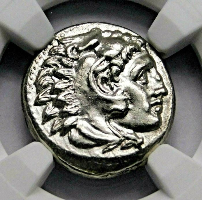 Greece (ancient) - Drachm Alexander the Great (336-323 BC) Lifetime Issue, Struck, circa 324/3 BC. Sardes mint. - Silver