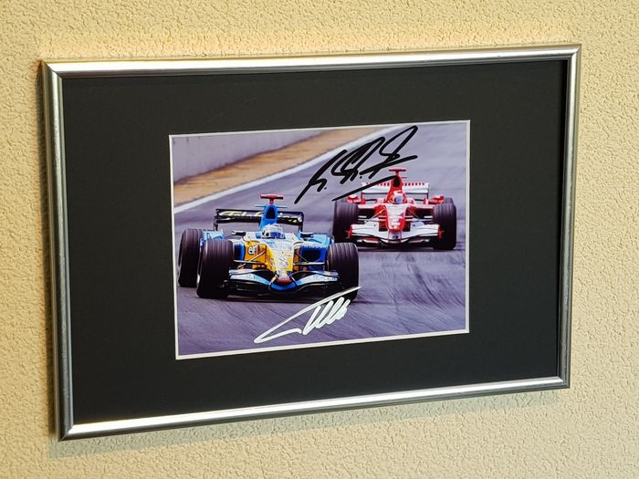 Renault F1 and Mercedes - Formula One - Fernando Alonso and Michael Schumacher - Photograph