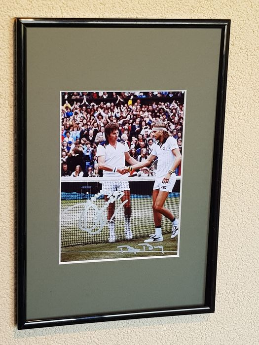 Tennis - Bjorn Borg and Jimmy Connors - Photograph