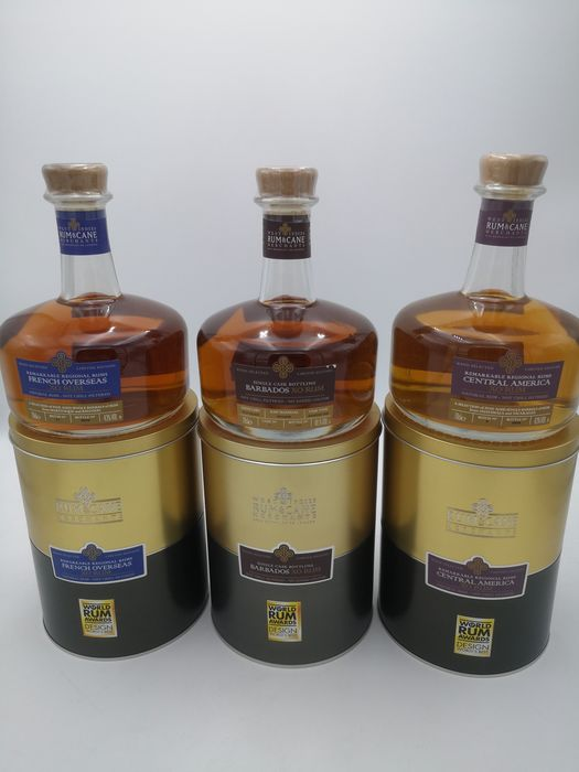 Rum & Cane Merchants - XO Rum - French Overseas, Barbados & Central America - 70cl - 3 bottles