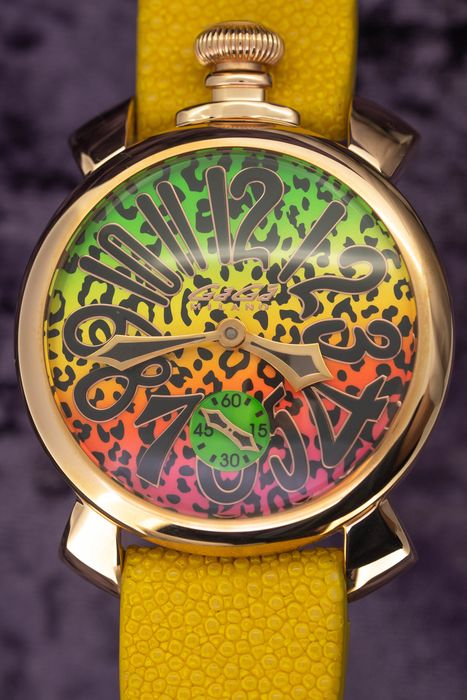 GaGà Milano - Mechanical Manuale 48MM Animal Art Collection Swiss Made Limited Edition Handmade Italian Leather - 5011ART02Y - Unisex - Brand New