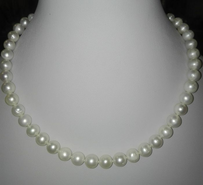 sign crab, Baroque pearl necklace - 9.2×9.2×420 mm - 46 g