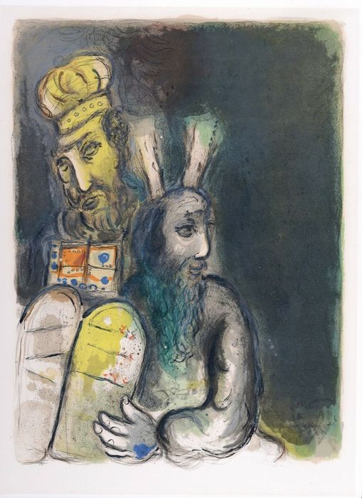 Marc Chagall - God Directs Moses to Make Vestments