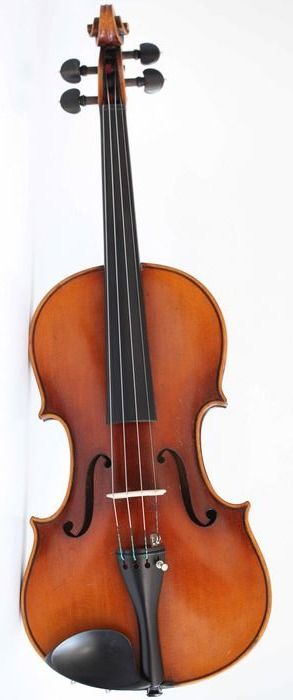 Labeled Augustus Pollastri - 4/4 - Violin - Italy - 1909