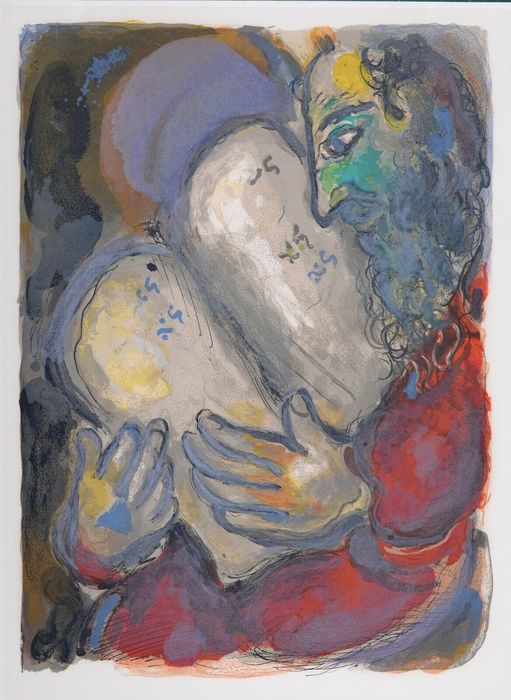 Marc Chagall - Moses Casts Out the Tablets